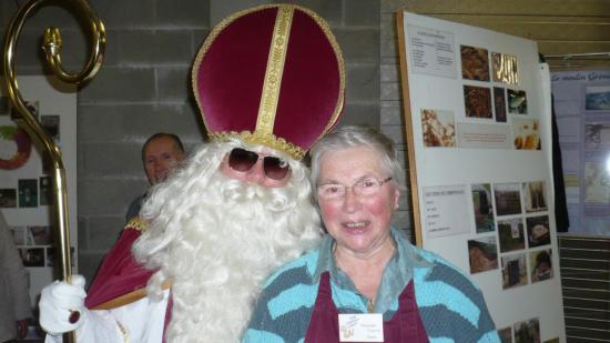 Francine avec Saint Nicolas